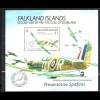 Falklandinseln: 1991, Blockausgabe K?niglicher Besuch (Spitfire-Flugzeuge)