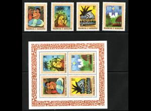 Samoa: 1980, Weihnachten (Satz und Blockausgabe)