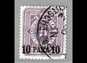 Deutsche Post in der Türkei: 1884, 10 Para auf 5 Pfg.