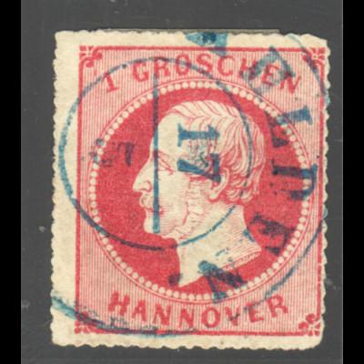 Hannover: 1864, König Georg 1 Gr. (zentrisch gestempelt K2)