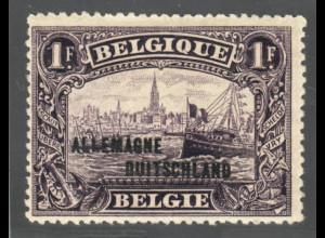 Belgische Militärpost im Rheinland: 1919, Überdruckausgabe