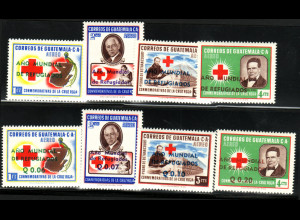 Guatemala: 1960, Überdruck Weltflüchtlingsjahr auf Ausgabe Rotes Kreuz