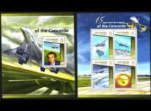 Salomon-Inseln: 2015, Concorde-Katastrophe (Kleinbogen und Blockausgabe)
