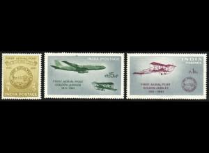 Indien: 1961, Flugpostverbindung (Flugzeuge)