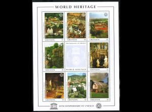 Grenada: 1997, Kleinbogen UNESCO-Welterbe (1 von 3 KB)
