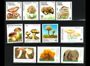 Andorra - Spanische Post: 1983/96, Pilze