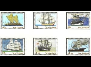 Neuseeland: 1990, Alte Segelschiffe