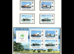 Salomon-Inseln: 1988, Schiffe (Satz und Blockausgabe)