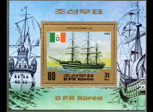 Nord-Korea: 1983, Blockausgabe Historische Segelschiffe (Einzelstück)