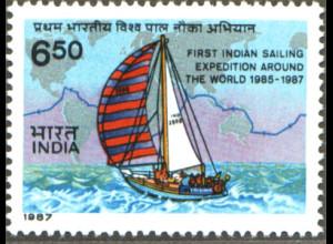 Indien: 1987, Indische Weltumseglung