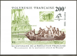 Französisch-Polynesien: 1989, Blockausgabe Meuterei auf der Bounty