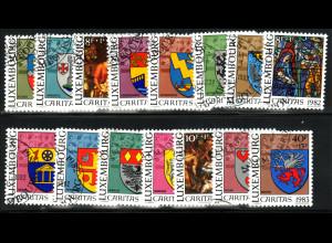 Luxemburg: 1981/83, Cartias (Gemeindewappen komplett 3 Sätze)