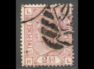 Großbritannien: 1876, Königin Victoria 2½ P. (WZ 10)