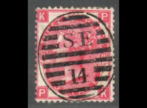 Großbritannien: 1867, Königin Victoria 3 P. (Stempel !!)