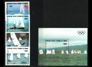 Komoren: 1983, Sommerolympiade Los Angeles (Satz und Blockausgabe, Segeln)