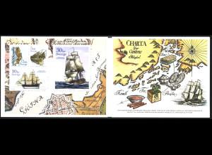 Schweden: 2003, Markenheftchen Ostindienfahrer (Historische Segelschiffe)