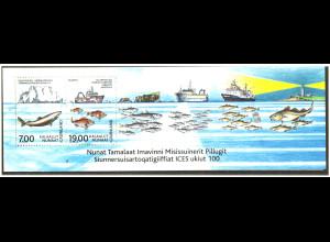 Grönland: 2002, Blockausgabe Meeresforschung (Fischereischiffe und Fische)