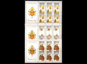 Vatikan: 2005, Kleinbogensatz Papst Benedikt (3 KB)