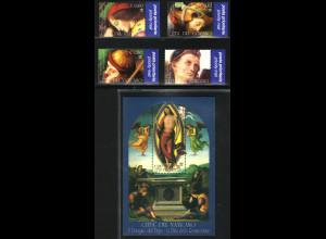 Vatikan: 2005, Altarbild des Perugino (Satz und Blockausgabe)