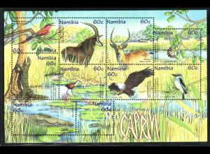 Namibia: 1988, Blockausgabe Tiere