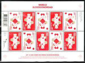 Niederlande: 2013, Kleinbogen Weltblutspendetag