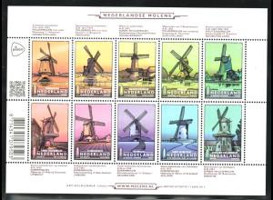 Niederlande: 2013, Kleinbogen Windmühlen