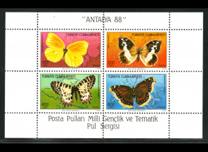 Türkei: 1988, Blockausgabe Schmetterlinge