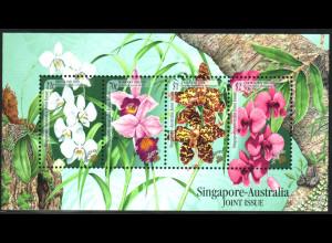 Singapur: 1998, Blockausgabe Orchideen