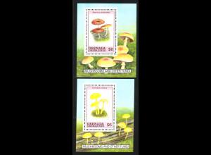 Grenada - Grenadinien: 1989, Blockpaar Pilze