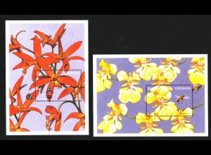 Grenada: 1997, Blockpaar Orchideen