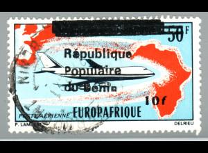 Benin: 1988, Freimarken-Überdruck 10 auf 50 Fr. (Kat.-Nr. 454 mit Aufdruck)