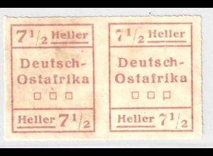 "DOA: 1916, Aushilfsausgabe ""WUGA"" 7½ H. waagerechtes Typenpaar I / II"