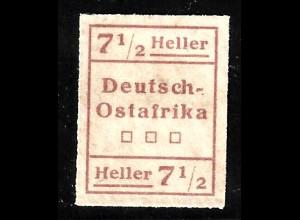 "DOA: 1916, Aushilfsausgabe ""WUGA"" 7½ H. Type I"