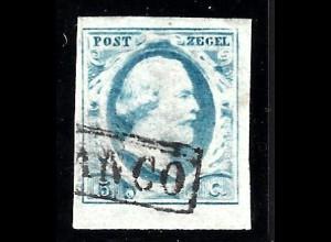 Niederlande: 1852, König Wilhelm III. 5 C. (breitrandig)