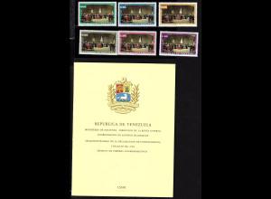 Venezuela: 1962, Unabhängigkeit (Satz gezähnt sowie ungez. Ministerblatt)
