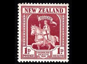 Neuseeland: 1934, Gesundheit (Kreuzritter zu Pferde)