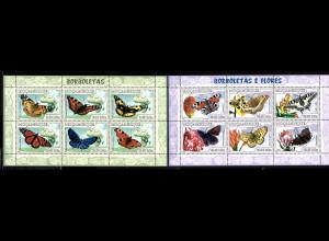 Mocambique: 2007, Kleinbogenpaar Schmetterlinge