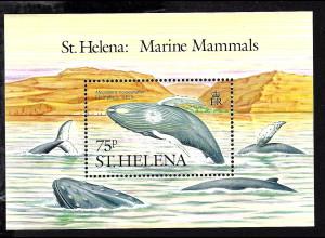 St. Helena: 1987, Blockausgabe Buckelwal
