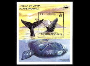 Tristan da Cunha: 2002, Blockausgabe Buckelwal