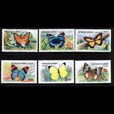 Benin: 2001, Afrikanische Schmetterlinge (amtlicht nicht verausgabt)
