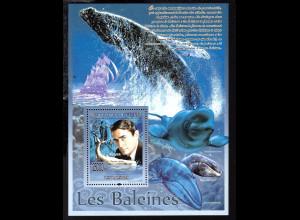 Guinea: 2008, Blockausgabe Film Moby Dick (Einzelstück)