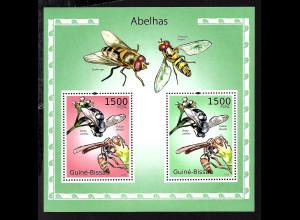 Guinea-Bissau: 2010, Blockausgabe Bienen und Wespen