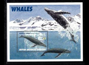 Britische Antarktisgebiete: 1996, Blockausgabe Wale