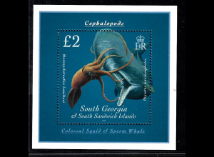 Falkland-Inseln – Süd-Georgien: 2010, Blockausgabe Kalmar und Wal