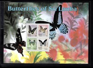 Sri Lanka: 1978, Blockausgabe Schmetterlinge