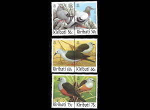 Kiribati: 1997, Tauben (Zdr.-Paare)