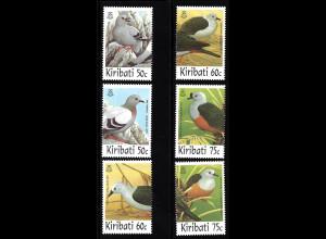 Kiribati: 1997, Tauben (Einzelmarken)