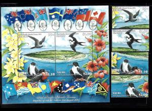 Nauru: 2001, Forum der pazifischen Inseln (Motiv Vögel,)