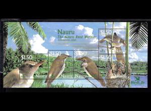 Nauru: 2003, Blockausgabe Nauru-Rohrsänger (Vogel)