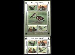 Aserbeidschan: 2011, Schlangenadler (WWF , Viererblock. und Blockausgabe)